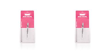 Beter PINZA depilar punta recta cromada