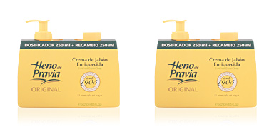 Heno De Pravia ORIGINAL crema jabón dispenser+recambio 250 ml