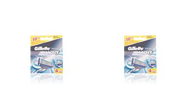 Gillette MACH 3 TURBO cargador 4 recambios