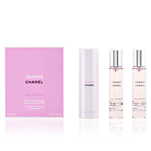 Chanel CHANCE EAU TENDRE eau de toilette purse spray twist & spray refill 3 x 20 ml