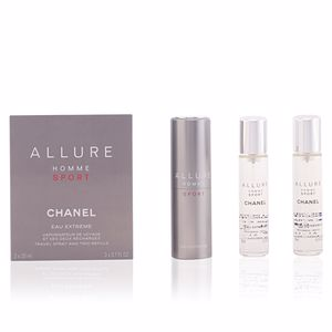 Chanel ALLURE HOMME SPORT eau extrême travel spray and two refills 3 x 20 ml