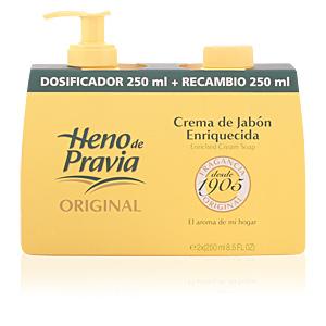 Heno De Pravia ORIGINAL crema jabón dispenser+recambio 250 ml