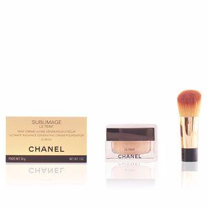 Chanel SUBLIMAGE LE TEINT teint crème #B20 pot en verre et pinceau