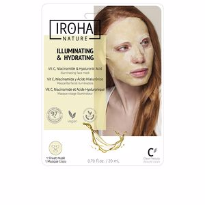 Iroha TISSUE MASK brightening vitamin C + HA 1 use