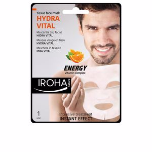 Iroha MEN TISSUE FACE MASK hydra vital vitamin C 1 use