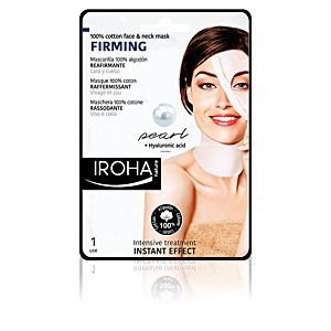 Iroha 100% COTTON FACE & NECK MASK pearl-firming 1 use