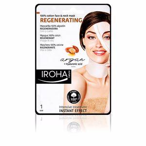 Iroha 100% COTTON FACE & NECK MASK argan-regeneration 1 use