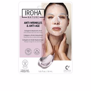Iroha 100% COTTON FACE & NECK MASK collagen-antiage 1 use