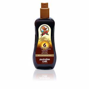 Australian Gold SUNSCREEN SPF6 spray gel with instant bronzer 237 ml