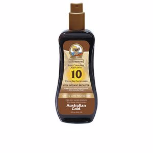 Australian Gold SUNSCREEN SPF10 spray gel with instant bronzer 237 ml